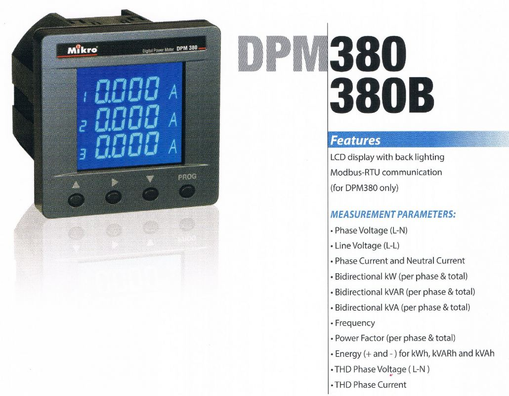 MIKRO digital power meter DPM380B