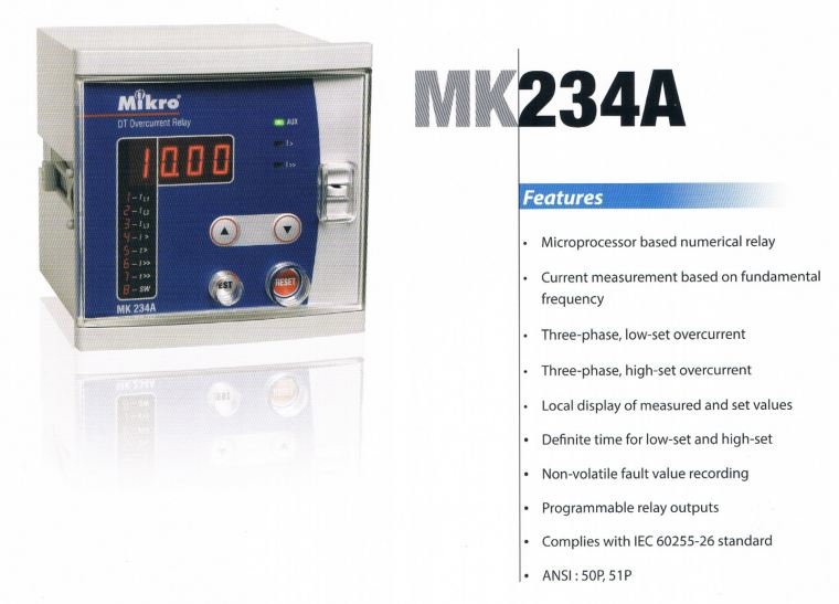mikro MK234A overcurrent relay